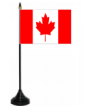 Canada Desk / Table Flag with plastic stand and base.